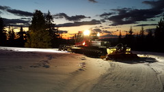 20160329_200254 (bifgul) Tags: sunset snow grooming snowmobiling pistenbully pb400