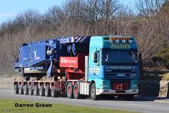 ALLELYS HEAVY HAULAGE DAF XF 530 BU04 MHK (denzil31) Tags: cranes heavy trailers daf 530 mhk liebherr invergordon spmt haulage stgo cat3 bu04 goldhofer allelys towheads xf95 lg1750