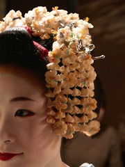 Ichiharu's Kanzashi (Rekishi no Tabi) Tags: japan kyoto gion kanzashi apprenticegeisha gionkobu apprenticegeiko ichiharu maikohairornaments
