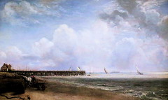 IMG_1589 John Constable. 1776-1837. Yarmouth Jetty. La Jete de Yarmouth. aprs 1823.  Londres Tate Britain. (jean louis mazieres) Tags: greatbritain london museum painting unitedkingdom muse londres museo peintures tatebritain peintres johnconstable grandebretagne
