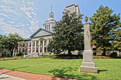 Historic State Capitol - Tallahassee, Florida (Andrea Moscato) Tags: old city blue trees light shadow sky usa building green history monument grass architecture clouds america town us downtown day view unitedstates edificio vivid historic cielo vista architettura civiccenter citt statiuniti andreamoscato