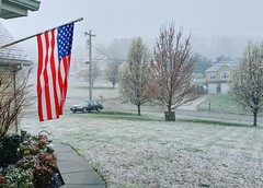 First Day of Spring (J.L. Ramsaur Photography) Tags: winter snow nature rural landscape outdoors photography photo crazy g4 tennessee americanflag pic oldbuildings patriotic lg photograph americana thesouth starsandstripes redwhiteblue usflag cumberlandplateau oldglory cookeville greengrass ruralamerica floweringtrees firstdayofspring itsspring 2016 smalltownamerica putnamcounty cookevilletn middletennessee itssnowing ruraltennessee ruralview cookevilletennessee ibeauty southernlandscape tennesseephotographer southernphotography screamofthephotographer jlrphotography photographyforgod tennesseeweather engineerswithcameras godsartwork naturespaintbrush jlramsaurphotography cookevegas lgg4 patrioticproud middletennesseeweather
