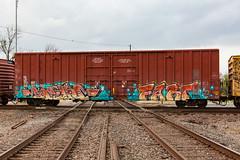 (o texano) Tags: bench graffiti texas houston trains fart freights benching