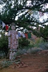 Amitabha Stupa Statue (rileyj323) Tags: arizona film buddha stupa buddhist flags amitabha