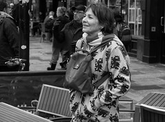 Onesie loves rugby (Nikonsnapper) Tags: street bw lady fan rugby candid cardiff olympus once unposed zuiko omd em1 1240mm