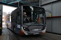 Just Arrived (reynardbizzar) Tags: road bus electric way grey long paint diesel nelson demonstration southern vectis april depot dennis hybrid loan enviro travelled demonstrator 2016 dnj sn62 sn62dnj
