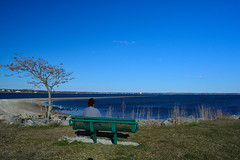 The horizon (E. Aguedo) Tags: park new england sky lighthouse tree beach river bench island ngc providence rhode warwick conimicut