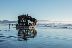 2016-01-10 - Peter Iredale Shipwreck-18 (www.bazpics.com) Tags: ocean sea usa beach water oregon america skeleton sand ship pacific or wave peter shipwreck frame hull wreck iredale