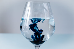 Bleed Blue (Adelina_brooks) Tags: blue water glass prime nikon paint time swirl bleed capture blend
