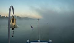 Duna - Danube - Donau (tarjangz) Tags: morning nature fog sunrise river ship nebel duna morgen schiff danube donau reggel haj foly
