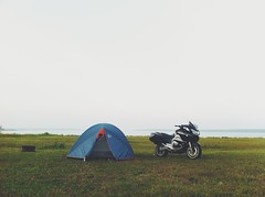 Motorcycle Camping on Manitoulin Island (whataride247) Tags: motorcycletouring