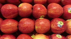 An apple a day (Let Ideas Compete) Tags: red apple fruit stack delicious rainier apples produce organic gala galaapples chemicallyorganic organicmyass