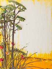 LS18X24-2016-096 (Justin Gaffrey) Tags: trees brown lake art nature yellow gold artist 30a lakescape artcollector coastaldunelake sowal justingaffrey
