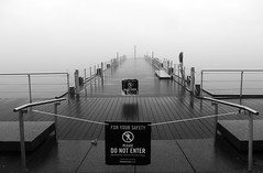 stay away. revisited (fishwasher) Tags: mist lake toronto ontario canada march boardwalk harbourfront 2016