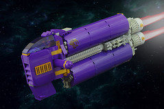 P (F@bz) Tags: sf purple lego space scifi spaceship starcraft spacecraft starship moc starfighter