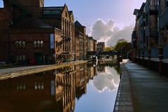 Evening view of the Steam Mill Building on the Shropshire Union Canal in Chester, UK (neilsimpson515) Tags: evening canal nikon shropshireunioncanal chester nikon2470 nikond800e steammillbuilding