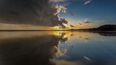 Morfa Bychan Beach (gerainte1) Tags: sunset sea sky castle beach wales clouds coast sand snowdonia criccieth morfabychanbeach