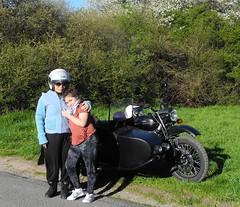 DSCN0367 (studio matahari lutong) Tags: blue sky bavaria spring ride tara maureen fruehling spessart mainfranken