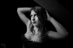 20160220-DSC04341 (borremans_kevin) Tags: people blackandwhite bw woman indoor retro portret zwart wit vrouw