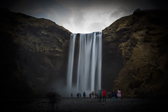 All the people... (Explored April 2016) (Turnpops) Tags: longexposure ice water landscape waterfall iceland tourists land skgafoss canon6d leelittlestopper