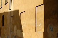 RE in blue (S. Hemiolia) Tags: windows shadow muro wall shadows ombra muri reggioemilia finestre viasanrocco