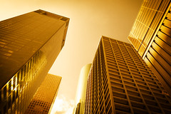 Urban Heat (Sky Noir) Tags: city red urban hot up yellow gold golden warm texas houston heat tall temperature