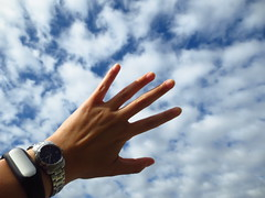 Day 114 (StarLitAngel) Tags: sky clouds goal hand reach 365 optimism hopeful project365
