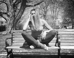 Anna Komis (anna_komis) Tags: portrait white newyork black fashion boston forest magazine hair fun outside outfit model photographer photoshoot legs wind outdoor northcarolina sneakers jeans vogue denim puma blackand booking outfitoftheday iphoneography