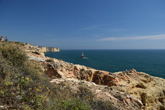 Algar Seco - Algarve, Portugal (bigjohn23582) Tags: sea cliff sun holiday beach portugal rock landscape coast europe cliffs formation algarve seco algar polariser algarseco