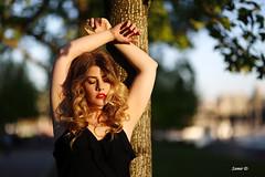 Carly (Samir D) Tags: sunset portrait face fashion vancouver pose eos dof lips curly vans carly vancity goldenlight 2016 35mm14 facepotraits samird vancitybuzz
