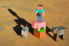 Vanilla Minecraft (radargeek) Tags: dog toys pig cow steve april vanilla 2016 pickaxe minecraft julesphotochallengegroup