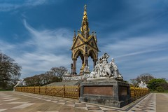 The Albert Memorial (James Waghorn) Tags: city england urban tree london statue clouds spring nikon memorial thealbertmemorial lr6 sigma1020f456 d7100