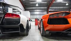 Lamborghini Murcielago SV & Aventador. (JayRao) Tags: christmas nikon dubai december nikkor fx lamborghini unitedarabemirates sv murcielago jayr 2015 d610 parcferme superveloce aventador