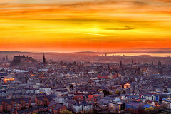 The City of Edinburgh on Fire (Rework) (MilesGrayPhotography (AnimalsBeforeHumans)) Tags: city uk sunset sky panorama castle sunshine skyline architecture canon landscape outdoors photography eos volcano golden evening scotland town photo spring twilight rocks edinburgh europe glow cityscape village nightscape edinburghcastle britain dusk scenic panoramic historic nd usm volcanic iconic historicscotland ef 1740mm canonef1740mmf4lusm firthofforth 6d f4l auldreekie nighfall hsm canon6d