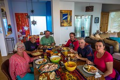 Hosting Christmas dinner in San Carlos, Mexico.