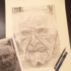 While I was away my daughter completed this amazing (and perfectly silly) hand drawn portrait of my dad. She is so talented. She'd love to do more portraiture but needs advice on getting started. #artist #drawing #talent #portrait (momfluential) Tags: she portrait silly love this was is amazing do dad artist hand drawing daughter shed away more talent portraiture and getting advice while but needs drawn started completed talented perfectly i