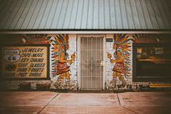 (Talisman39) Tags: door arizona route66 mural az indians vignette jackrabbittradingpost josephcity