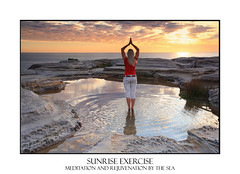 Woman yoga meditation by the ocean sunrise (sugarbellaleah) Tags: ocean morning sky people woman seascape beach nature water yoga female standing sunrise freshair outdoors amazing scenery pretty solitude quiet exercise scenic peaceful tranquility calm serenity soul stunning environment balance meditation spiritual bliss fitness stress asana wellness wellbeing worries rejuvenation
