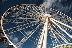 Touch the clouds (Culinary Fool) Tags: seattle blue washington downtown waterfront ferriswheel wa february bigwheel 2015 culinaryfool 2470mm28 brendajpederson