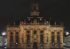 Ludwigskirche in Saarbrcken (thunderbird-72) Tags: de deutschland nacht kirche barock saarland saarbrcken ludwigskirche ludwigsplatz stengel freihand altsaarbrcken afsdxnikkor35mmf18g