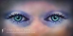 Saskia's  Eyes - A Single Tear (Sylvia Slavin ARPS (woodelf)) Tags: girl composite photoshop ir emotion crying daughter infrared tear saskia