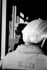 070704_TRIP35_001_TMAX400_0020 (A Is To B As B Is To C) Tags: people bw hat hair belgium kodak tmax tram olympus antwerp oldies antwerpen haar koppen trip35 aistobasbistoc