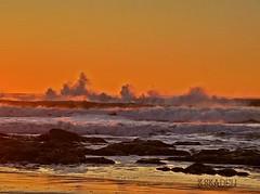 Waves at sunset... (Tina Stadeli) Tags: ocean water oregon waves pacificocean pacificnorthwest oregoncoast lincolncity crashingwaves oregonbeaches lincolncityoregon exploringoregon pacificnorthwestbeaches oregonexplored