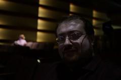 Self-portrait in the audience (Z!SL) Tags: nyc portrait selfportrait male lowlight theater dof theatre bokeh indoor depthoffield selfie bokehwhores emount minoltaemount sel24f18z sel24f18za sel24f18 sonnarte1824 nex5r sonnar2418za self24f18