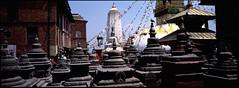 The Monkey Temple (The Shutter Shaman) Tags: nepal fuji 400 kathmandu provia f4 45mm hasselbladxpanii themonkeytemple