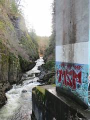 4  grafitti (Upupa4me) Tags: river washington grafitti pillar vandalism trespass boxcanyon eatonville 4grafitti