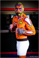 Zombie pop art - Artist : Melissa Whittaker, Model : Iain Ward (Digital-Mechanic.com) Tags: green art fighter zombie cage pop bodypaint boxer octagon mma zombiepopartartistmelissawhittaker modeliainward