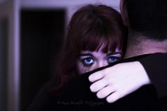 Autophobia. (Lighthunter.) Tags: blue boy girl sadness eyes hug couple loneliness sad fear relationship cry autophobia autofobia