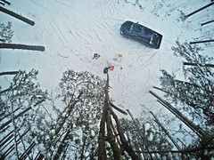 Eleven meter selfie-stick (Alexandr Tikki) Tags: world wood travel original winter light wild sky white holiday snow man cold art nature forest wow wonder landscape fun idea crazy high amazing nice fantastic perfect view weekend top awesome great creative best hero imagine concept moment incredible impressive selfie tikki gopro selfiestick goprohero4 alexandrtikki leveltravel