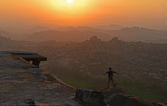 YOU GOT ME ROCKING (GOPAN G. NAIR [ GOPS Photography ]) Tags: tourism rock stone sunrise photography hill empire karnataka hampi gops mathanga gopan vijayanagara gopsorg gopangnair gopsphotography